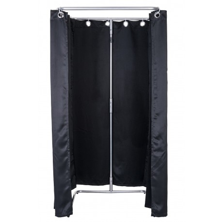 Mobile Dressingroom Black open